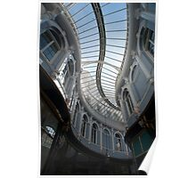 Curving glass roof of the Morgan Arcade Poster