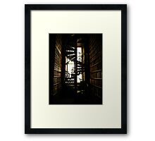Library Staircase Framed Print