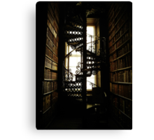 Library Staircase Canvas Print
