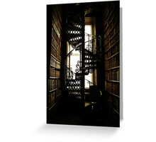 Library Staircase Greeting Card
