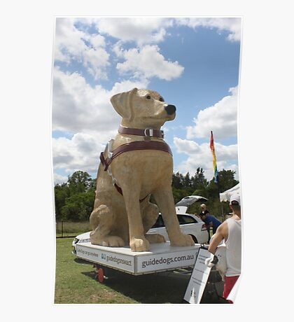 Guide Dog Effigy  Poster