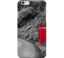 Red Phone Box iPhone Case/Skin
