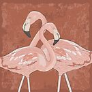 Artistic flamingos by favete