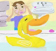 The Little Rubber Ducky Sings Opera In The Bathtub by pinkyjainpan