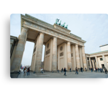 Daylight view of the Brandenburg Gate, Berlin Canvas Print