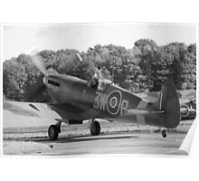 Spitfire Taxi Poster