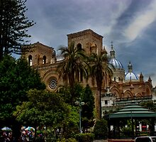 Palm Sunday In Cuenca Ecuador II by Al Bourassa