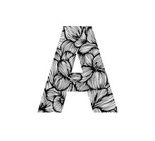 Floral letter A by blackestdress