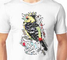 Crested Barbet, Kuifkophoutkapper Unisex T-Shirt