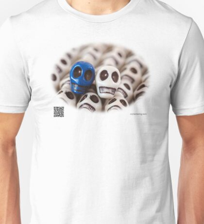 Navy Blue And White Unisex T-Shirt