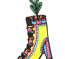 Flower Power Shoe by Sol-disegni-