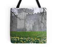 Daffodils in the garden at Cardiff Castle Tote Bag