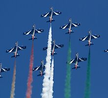 Italian Display Team Frecce Tricolori by Mike Rivett