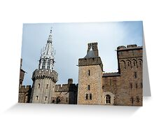 Exterior facade Cardiff Castle Greeting Card