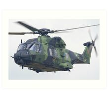 Finnish Army Helicopter Art Print