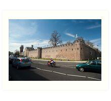 Cardiff Castle walls Art Print