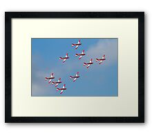 Swiss Air Force display team Framed Print
