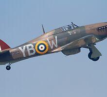 Hawker Hurricane Take off by Mike Rivett