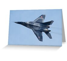 Polish Air Force Mig 29 Greeting Card