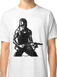 Rambo; First Blood Stencil Classic T-Shirt