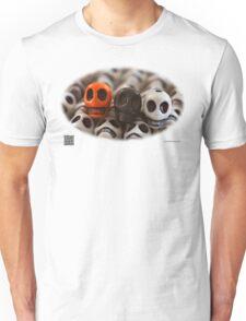 Orange Black And White Unisex T-Shirt