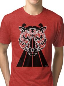 Triangle Tiger Face Tri-blend T-Shirt