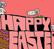 Happy Easter with animals by Logan81