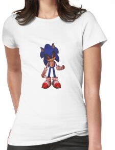 SONIC.EXE (Creepypasta) Womens Fitted T-Shirt