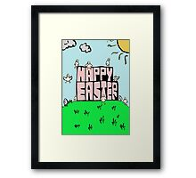 Happy Easter with chicks Framed Print