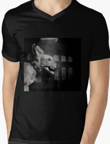 Dogs with game face on .27 Mens V-Neck T-Shirt
