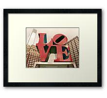 LOVE Park in Philadelphia Framed Print