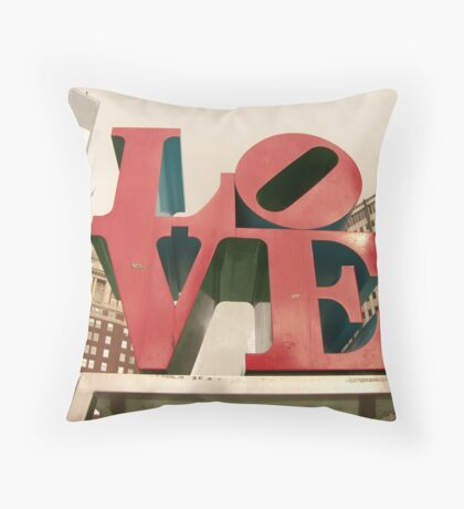 LOVE Park in Philadelphia Throw Pillow