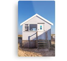 Sail away with me beach hut Metal Print