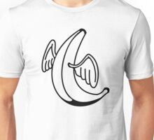 Flying Banana with Angel Wings Unisex T-Shirt
