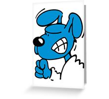 Blue Dog is angry Greeting Card