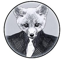 Business Fox Photographic Print