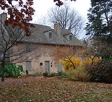 Historic House in the Fall Bartram's Garden by Allison Ostertag