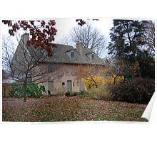 Historic House in the Fall Bartram's Garden Poster