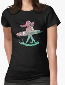 Gnarly Seashorse Womens Fitted T-Shirt