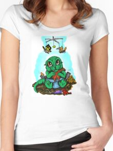 Baby Godzilla Women's Fitted Scoop T-Shirt
