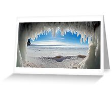 Jaws of Winter, Lake Superior Greeting Card
