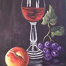 WINE GLASS STILL LIFE by Pamela Plante