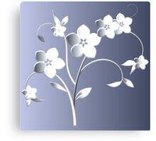 Silver flowers Canvas Print