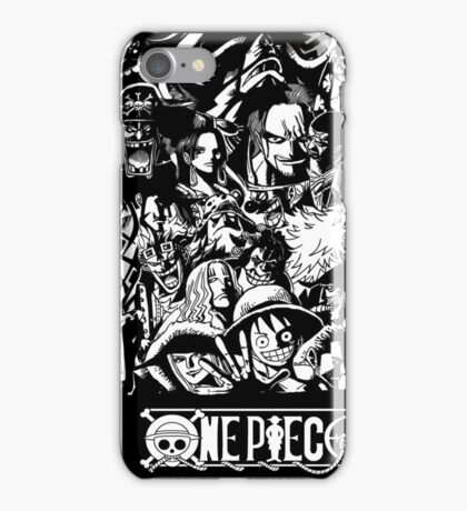 ONE PIECE all characters (B&W) iPhone Case/Skin