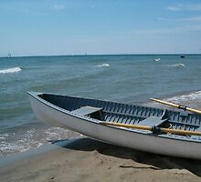 Blue Rowboat by Marie Van Schie