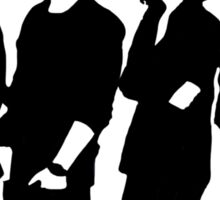 One Direction Silhouette Black and White Sticker