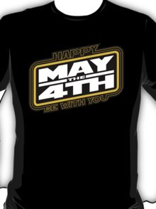 Happy May the 4th! (Yellow/White-Slanted) T-Shirt