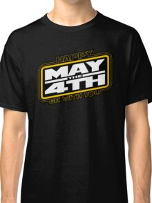 Happy May the 4th! (Yellow/White-Slanted) Classic T-Shirt