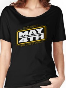 Happy May the 4th! (Yellow/White-Slanted) Women's Relaxed Fit T-Shirt