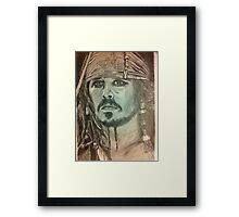 Johnny Depp - Pirates of the Caribbean Framed Print